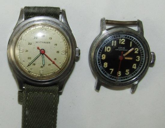 2pcs-1940's Military Style Wrist Watches-Wittnauer/Oris