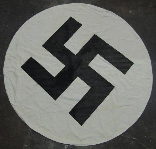 large NSDAP Flag Center-Double Sided. From Vet Estate