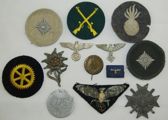 13pcs Misc. WW2 German Insignia