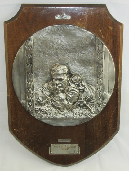 "WW2 USMC ""IRON SIGHT AGGREGATE"" Shooting Award Trophy Plaque-Dated 1942"