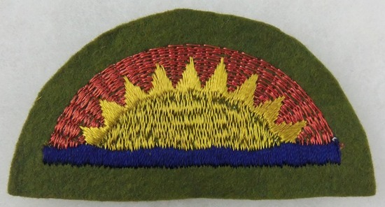 """WW1 Period 41st """"Sunset"""" Infantry Division Patch"""