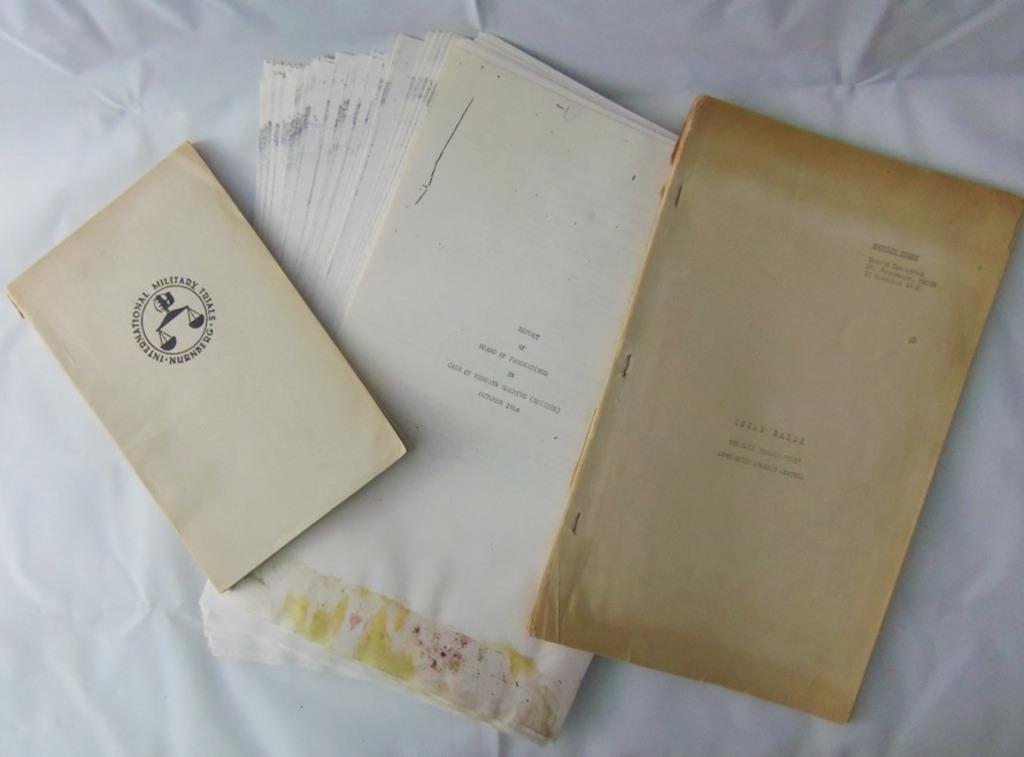 3pcs-Period Photocopies-Nurnberg Trial Proceedings-Goring Suicide-Trial Booklet