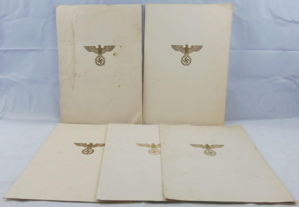 5pcs-3rd Reich Period Unissued Promotion Documents