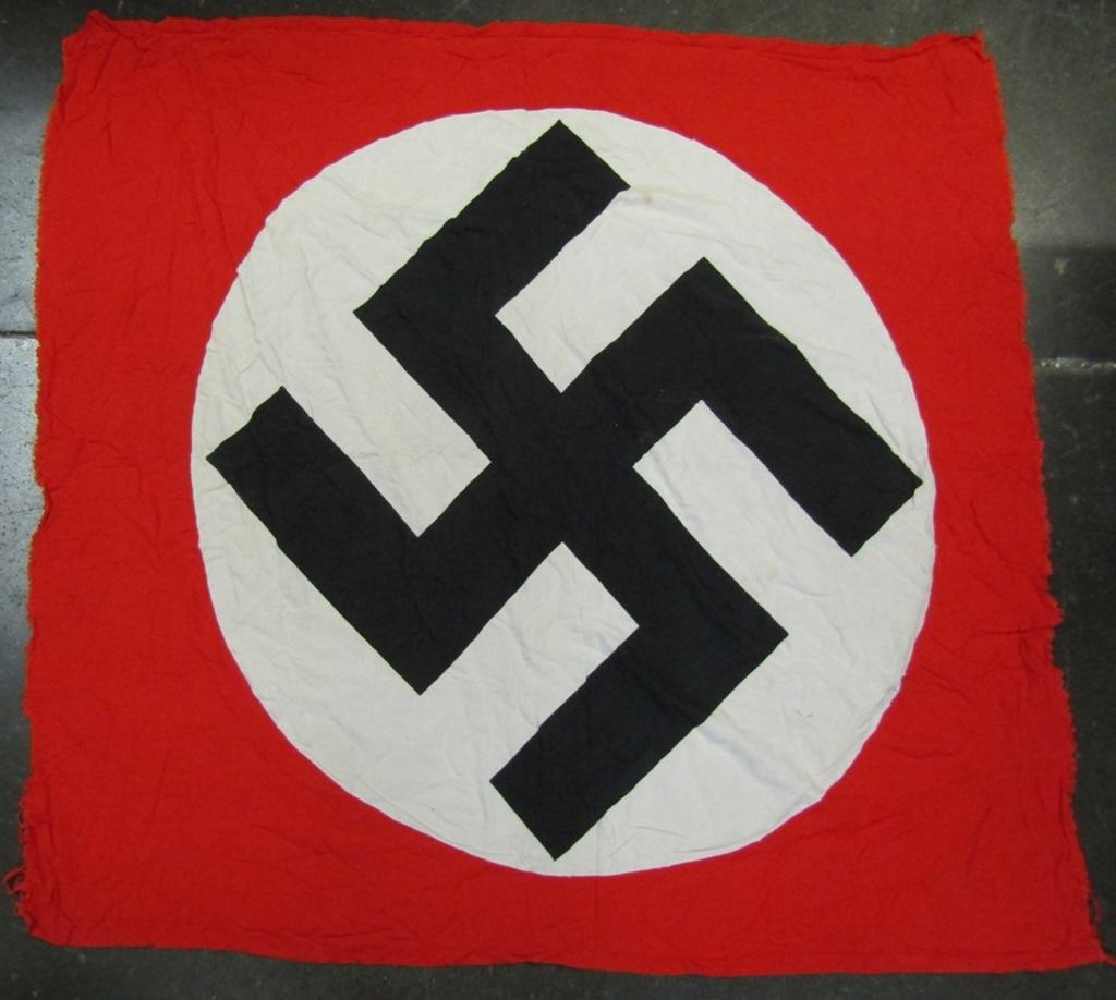 NSDAP Double Sided Banner/Flag From Vet Estate
