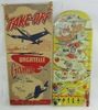 """Rare Jet Fighter Bagatelle Game By Marx """"Take Off"""" With Original Box"""
