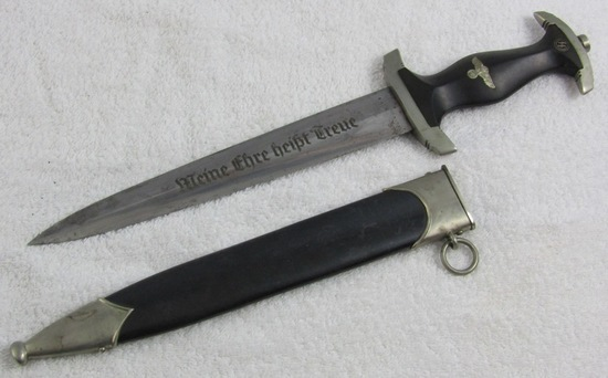 Early SS Enlisted Dagger With Scabbard-Scarcer E. Pack & Sohn Maker