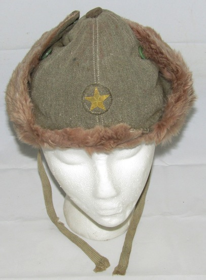 Scarce WW2 Japanese Soldier Cold Weather Hat