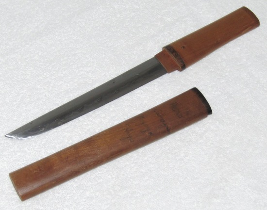 Early Japanese Tanto In wood Fittings