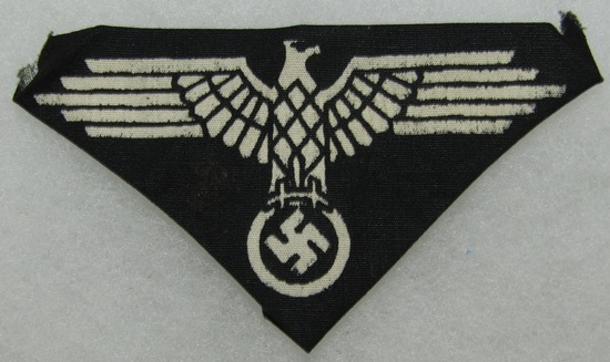 Scarce Waffen SS Arm Eagle-Late War Printed Example