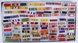 100+Pcs-WW1/WW2/Korean War/Vietnam War/Later U.S. Military Ribbon Bars