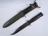 2pcs-WW2/Korean War Period U.S. M4 Carbine Bayonet By Imperial. Mark 2 Fighting Knife