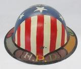 WW1 U.S. M1917 Doughboy Helmet With Artwork