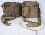 2pcs-WW1 U.S. soldier Gas Masks