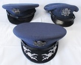 3pcs-early U.S. Air Force Officer's Visor Caps.