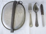 WW1 U.S. Soldier Mess Kit With Risqué Artwork-Utensils