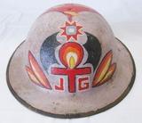 WW1 U.S. M1917 Doughboy Helmet With Artwork/Liner