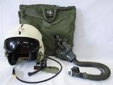 Early Vietnam War Period U.S. Air Force Pilot Helmet With Bag/Oxygen Mask-Named