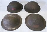4pcs-WW1 U.S. M1917  Doughboy Helmets
