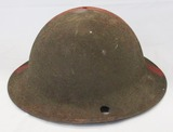 Scarce WW1 U.S. M19717 Reject/Training Doughboy Helmet