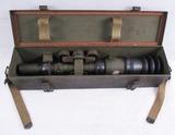 Scarce WW2 Period M69C Anti-Tank Telescope With Metal Carry Case.