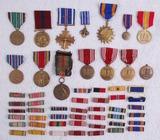 54pcs-Misc WW1/WW2/Later U.S. Medals/Ribbon Bar Grouping.
