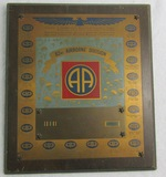 Early Post WW2 82nd/325th Airborne Infantry Rgt.  Airborne Soldier's Plaque-Named