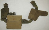 WW2 British Officer's Web Belt With Pouches/Webley Holster