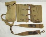 WW1 Canadian Ammo Belt/WW2 British Leggings/Cartridge Pouch