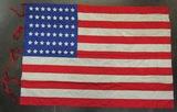 48 Star American Flag-Printed Silk