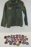 Grouping Of WW2/Later Civil Air patrol Patches-Uniform Shirt.