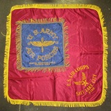 2pcs-WW2 Period Army Air Forces Pillow Cover/Larger Throw Size With Fringe.
