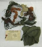 WW2 Period U.S. Army M1 Helmet Net With Instruction Card-Other Net With Scrimshaw