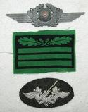 3pcs-Luftwaffe Flak Specialty Sleeve patch/Cap Wreath/Waffen SS Sleeve Rank