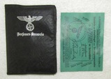 Scarce Faux Leather German Personal Identity Paper Holder