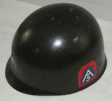 WW2 M1 Helmet Liner With  5th Army In The Mediterranean  Decals.