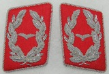 Matching Pair WW2 Luftwaffe Major Collar Tabs-General Staff