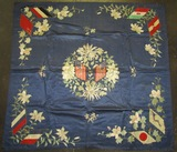 Large Silk Banner With Intricate Embroidery-Flags Of Axis And Allies-Pre WW2