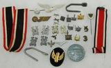 Large Lot Misc. WW2 German Insignia-Ribbons Etc.