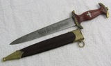 SA Dagger For Lower Ranks-RZM M7/85 (Arthur Evertz) W/Gold Plated Fittings