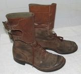 WW2 Period U.S. Army Double Buckle Combat Boots-Named-1944 Dated