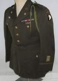 WW2 101st Airborne Officer's Class A 4 Pocket Tunic-Glider Troops