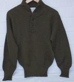 Late War U.S. Army Issue High Neck Sweater-Size Medium
