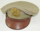 Scarce WW2 U.S. Army/Air Corp Officer's Khaki Visor Cap By Luxenberg