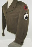WW2/Occupation U.S. Army 43rd Division Ike Jacket For Enlisted-Rare Bullion Patch