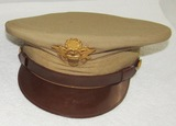 Scarce WW2 Depot Issued U.S. Army/Air Corp Officer's Khaki Visor Hat