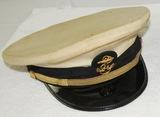 Named WW2 USN Petty Officer's White Top Visor Hat
