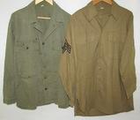 2pcs-WW2 U.S. Army HBT Utility Shirt-Wool Combat Shirt