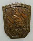 Early Nazi Party Plaque Device-1933 Dated-Rare Plaque For Castle Cruise Tour
