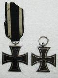 2pcs-1870 And WW1 German Iron Crosses 2nd Class