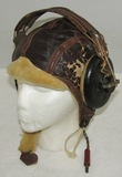 Pre/Early WW2 Army Air Corps Type B-6 Leather Flight Cap With Head Phones